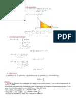 COUR Loi exponentielle de paramètre λ