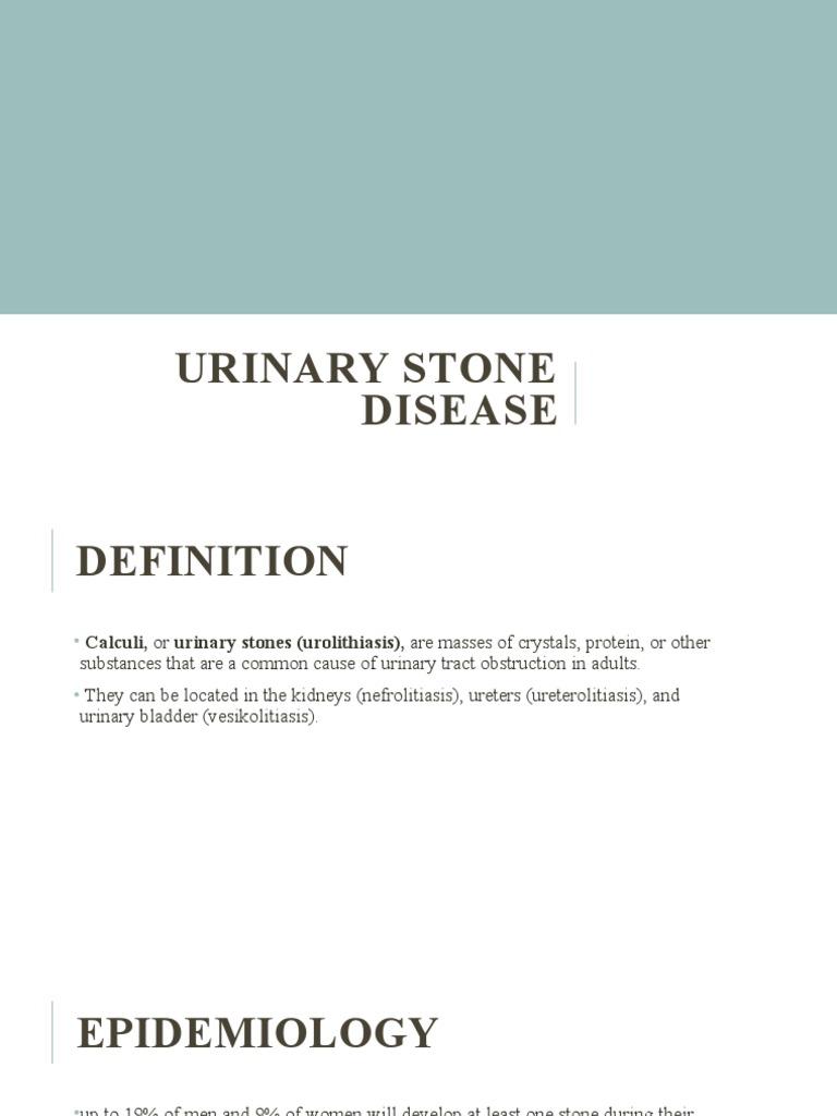 Urolithiasis és prostatitis