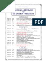 Gaudiya Vaishnava Calendar 2011