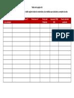 Tabla de La Pagina 16 Proyecto de Matematica Entregar Antes Del 27 de Marzo