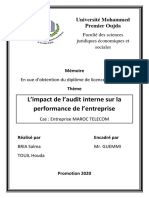 L'Impact de l'Audit Interne Sur La Performance de l'Entreprise