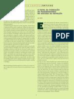 O papel da formação de pesquisadores_VELHO