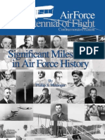 Significant Milestones in Air Force History