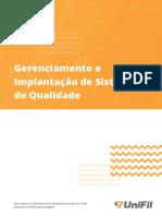 Gerenciamento e Implantação de Sistemas de Qualidade Unidade IV