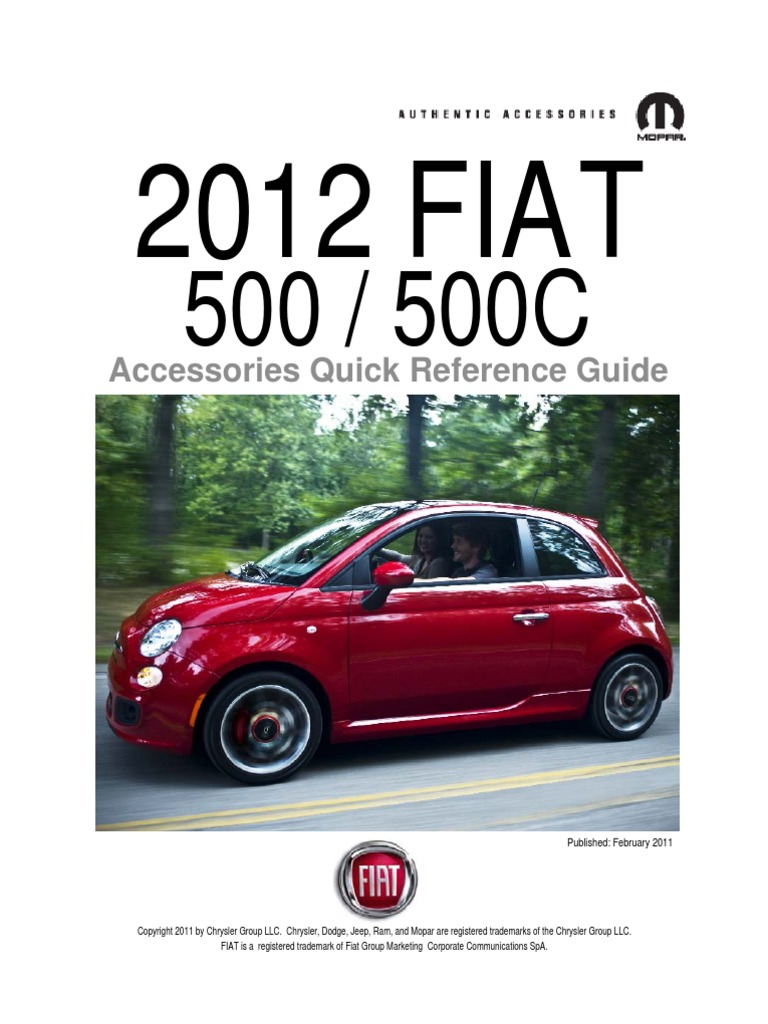 Fiat Genuine Accessories 82212441 Front End Cover 500//500C