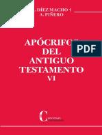 Apocrifos Del Antiguo Testamento VI- Diez Macho