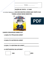 PRODUÇÃO DE TEXTO – 1º ANO (2011)