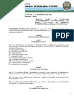 Lei Compl. 159.16 - Estrutura Administrativa, Atualizada Pela Lei 170-2017