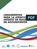 Lineamientos para la Atención del Suicidio Adolescente Msal Argentina (2012)