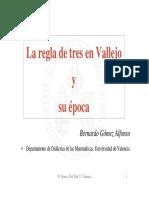 Bernardo Gómez Alfonso-La Regla de Tres en Vallejo y su Época