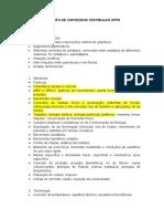 RELAÇÃO DE CONTEÚDOS UFPR
