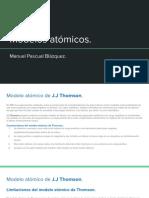 Modelos atómicos. (1)