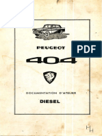 Peugeot 404 Documentation d'Atelier Diesel