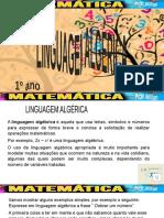 1 ANO - PET 1 - S 1 - Linguagem Algébrica