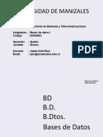 Bases de Datos I _ Presentación 1