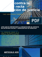 Delitos Contra La Eficaz y Recta Impartición de Justicia