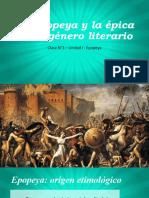 CLASE N°3 - La Epopeya y la épica como género literario