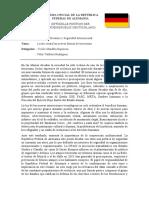 POSTURA OFICIAL DE LA REPÚBLICA FEDERAL DE ALEMANIA