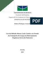 Uso do Método Monte Carlo Cinético no Estudo do Transporte de Carga em Heterojunções Orgânicas Livres de Fulerenos