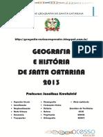 A Apostila de Geografia de Santa Catarin