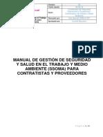 Manual de Gestión SSOMA Para Contratistas y Proveedores. Versión 4