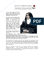 CHAPLET OF ST. THERESE LISIEUX