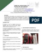 Practica 4 - Uso del multímetro