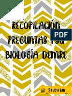 Recopilación preguntas Biologia