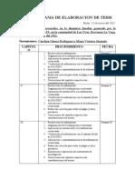 CRONOGRAMA DE ELABORACION DE TESIS