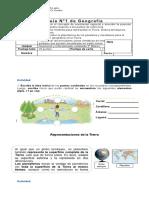 Guía N° 1  Reforzamiento geografía 4°