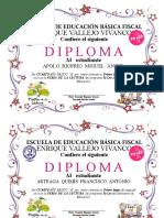 1 Diploma Concurso Fiesta Lectura
