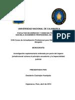 Investigación Suplementaria Ordenada Por Parte Del Órgano Jurisdiccional Vulnera El Principio Acu