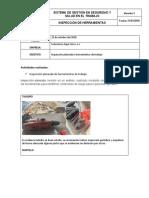 Inspeccion de herramientas manuales soluciones Aqua