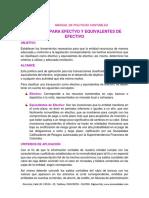 POLITICAS PARA EFECTVO Y EQUIVALENTES DE EFECTIVO