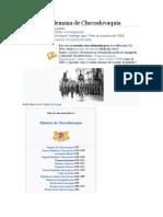 Ocupación alemana de Checoslovaquia resumen