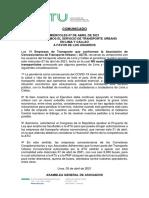 Comunicado - Garantizamos Continuidad Del Servicios de Transporte Urbano - 07.04.21 - Final