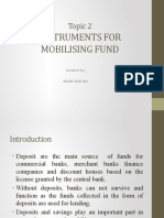 topic 2. INSTRUMENTS FOR MOBILISING FUND