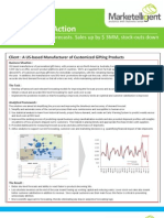 Analytics in Action - How Marketelligent Helped a US Manufacturer Improve Demand Forecasts