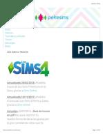 Los Sims 4 trucos