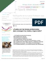 La profesión Spa & Wellness Manager - Wellness Spain