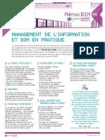 Memo 6 - Management de l'information et BIM en pratique