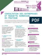 Memo 5 -  Consultation des entreprises et maquette numérique en pratique