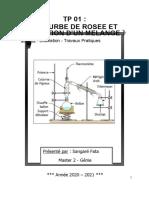 tp distillation courbe de rosée