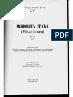 Gligor Stanojevic - Popis Stanovnistva i Zemlje u Okolini Zadra Iz 1756. Godine