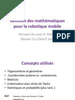 Notions Mathématqies Pour La Robotique