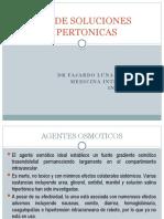 USO DE SOLUCIONES HIPERTONICAS