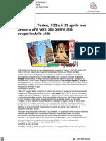 Cody Trip a Torino, il 22 e 23 aprile una gita virtuale alla scoperta della città - Torinofan.it, 2 aprile 2021