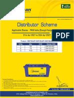 Eastman Short Tubular FOC Scheme-Pan India (Exccept HR & Del) 1-4-21 to 30-4-21