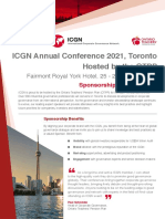 Toronto Annual Conference Sponsorship Flyer