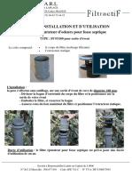 Notice Installation Et Utilisation FFS 100